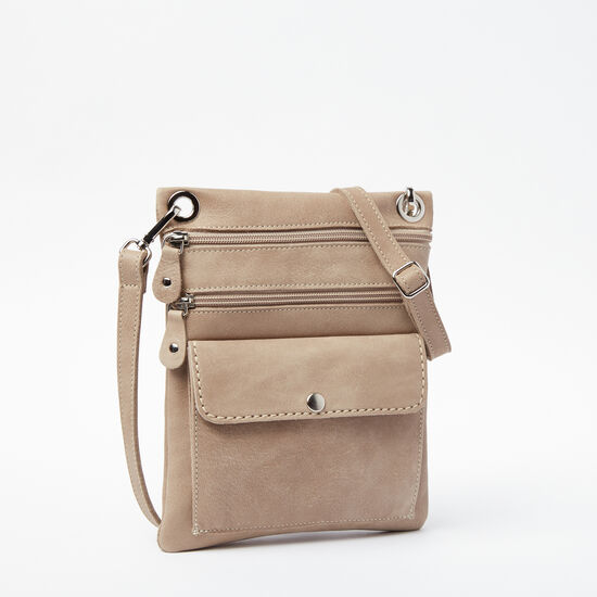 Roots-Leather Roots Original Flat Bags-Urban Pouch Tribe-Sand-A