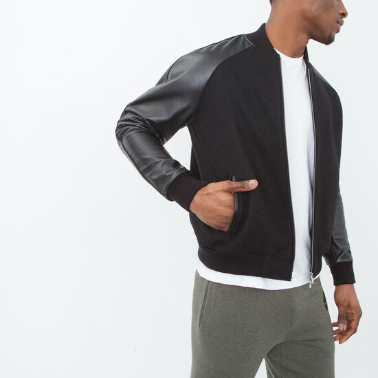 Roots - Bradley Jacket Melton/leather