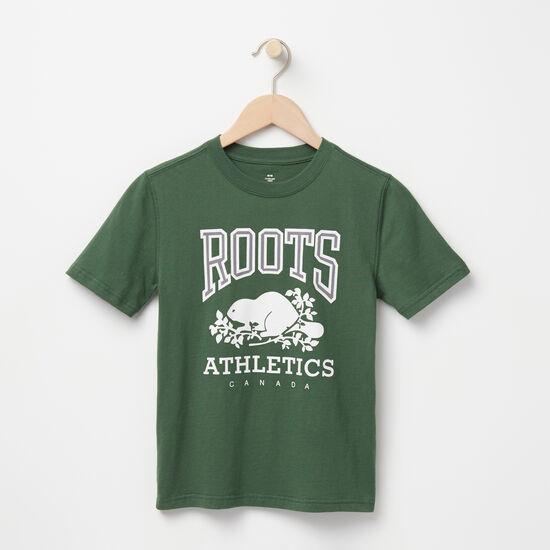 Roots-Enfants T-shirts-Garçons T-shirt RBA-Vert Camp-A