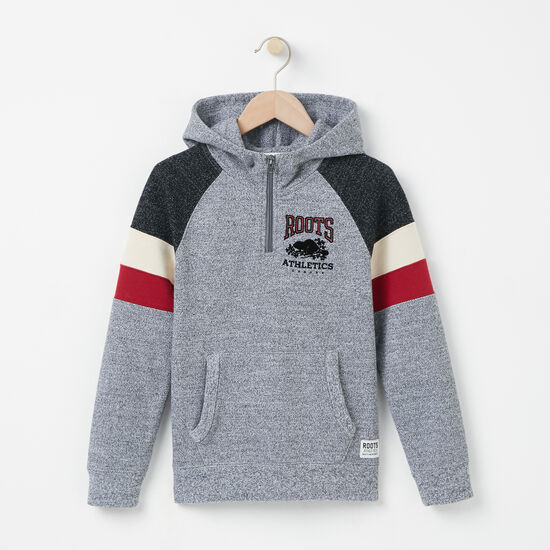 Roots - Boys Colour Block 1/2 Zip Hoody