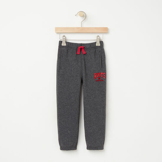 Roots-Kids Bottoms-Toddler Midland Sweatpant-Charcoal Mix-A