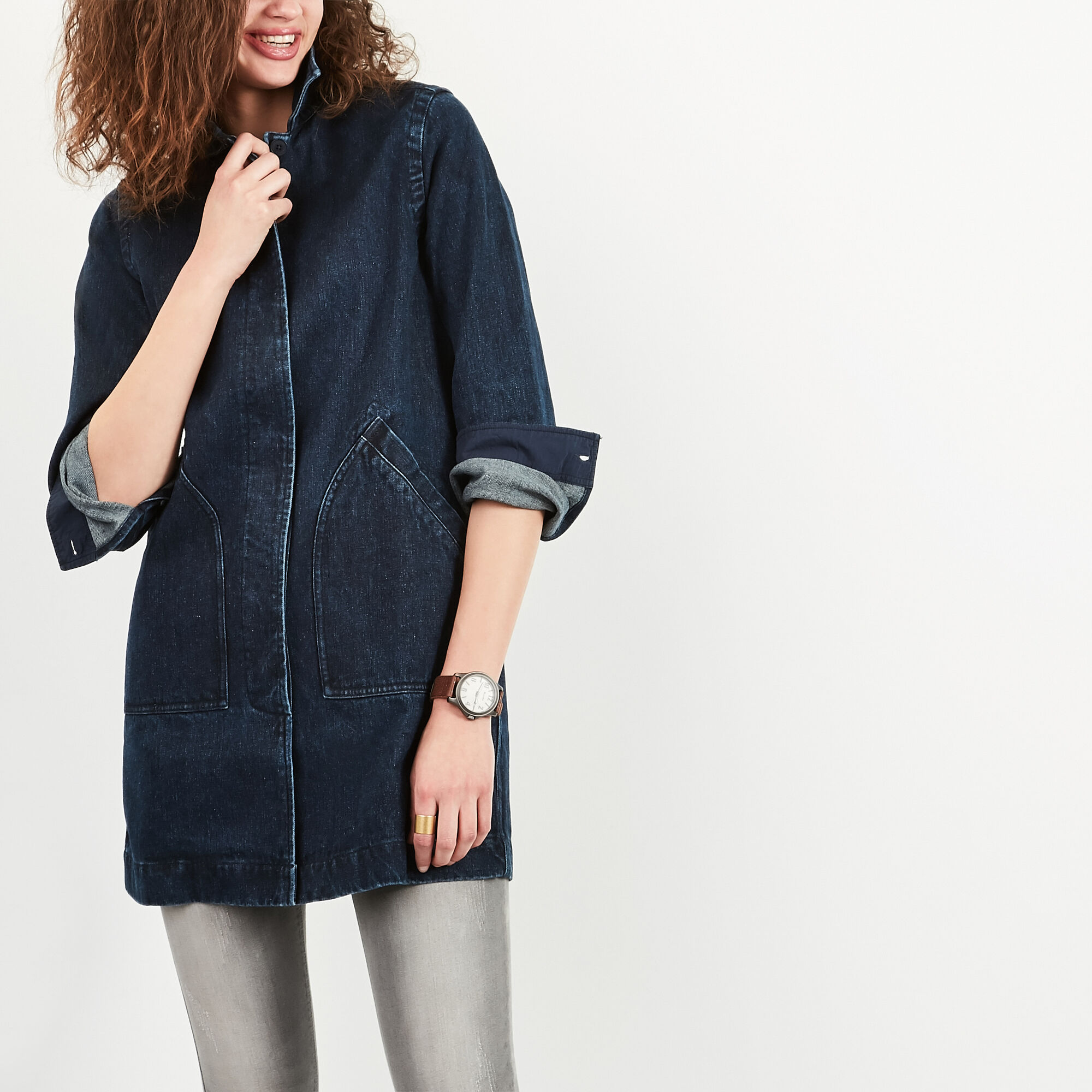 Manteau Drafting En Denim