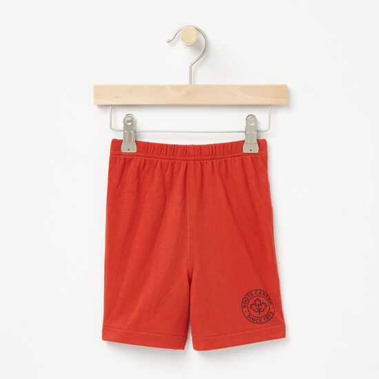 Roots-Kids Bottoms-Baby Moncton Shorts-Mountie Orange-A