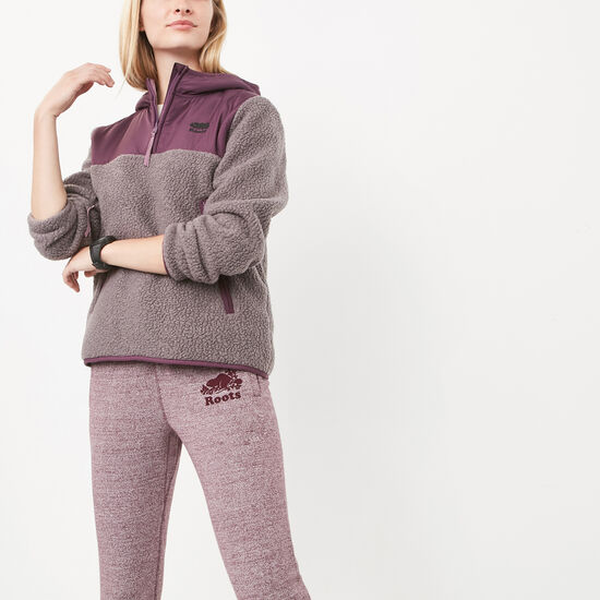 Roots-Women Active-Whitney Half Zip-Rabbit Mix-A