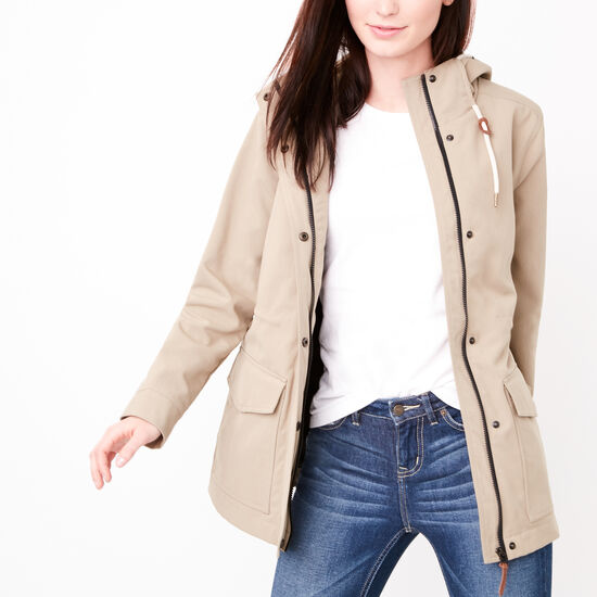Roots-Women Jackets-Westport Tuff Jacket-Timberwolf-A