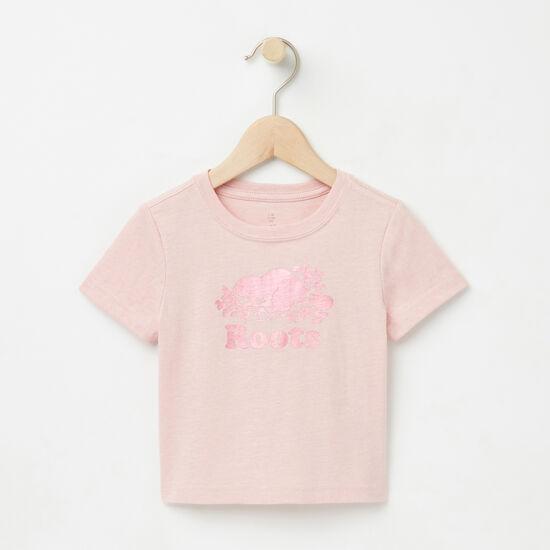 Roots-Enfants T-shirts-Bébés T-shirt Cooper Beaver Mét-Mélange Rose Argenté-A