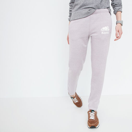 Roots-Women Bottoms-Slim Sweatpant-Nirvana Pepper-A