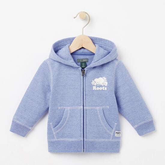 Roots-Kids Tops-Baby Colour Pepper Original Full Zip Hoody-Deep Periwinkle Ppr-A