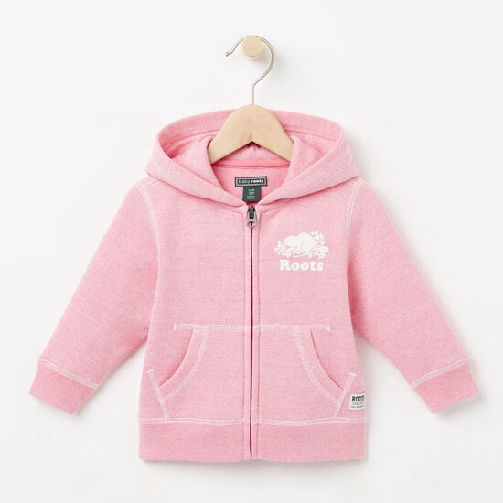 Roots-Kids Tops-Baby Colour Pepper Original Full Zip Hoody-Cashmere Rose Pepper-A