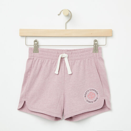 Roots-Kids Bottoms-Girls Lucy Shorts-Mauve Shadows-A