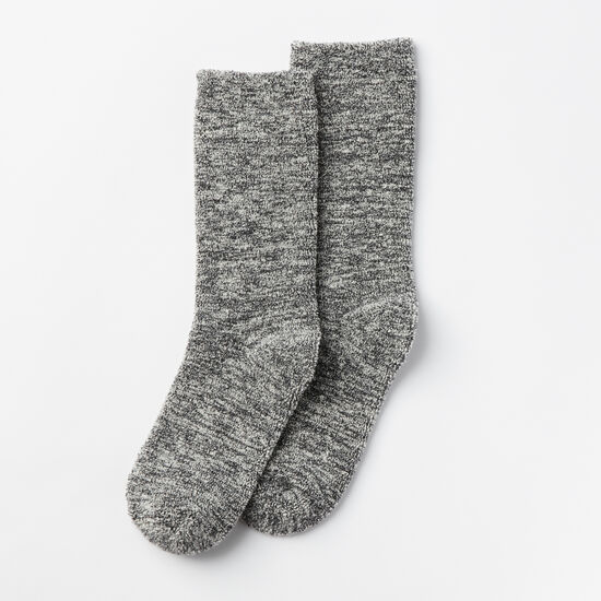 Roots-Women Socks-Womens Trail Crew Sock-Charcoal Mix-A