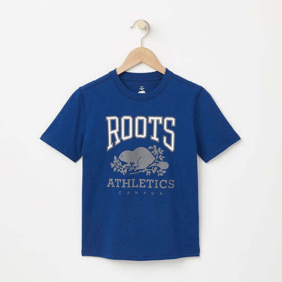 Roots-Enfants T-shirts-Garçons T-shirt RBA Phosphorescent-Bleu Lac Anchor-A