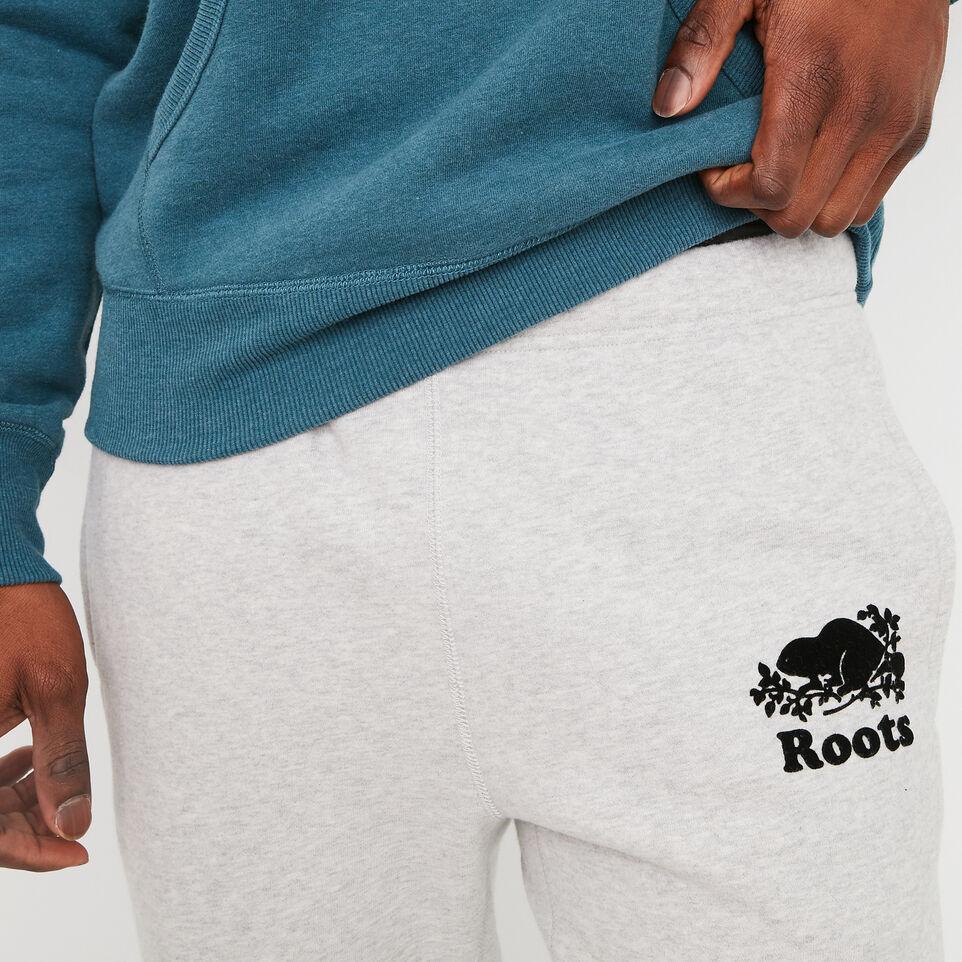 Roots-undefined-Pantalon Ajusté Coton Ouaté-undefined-C