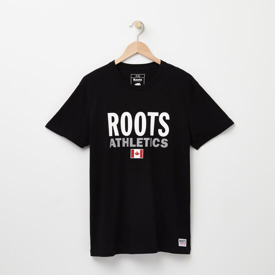 Roots-Men New Arrivals-Mens Roots Re-issue T-shirt-Black-A