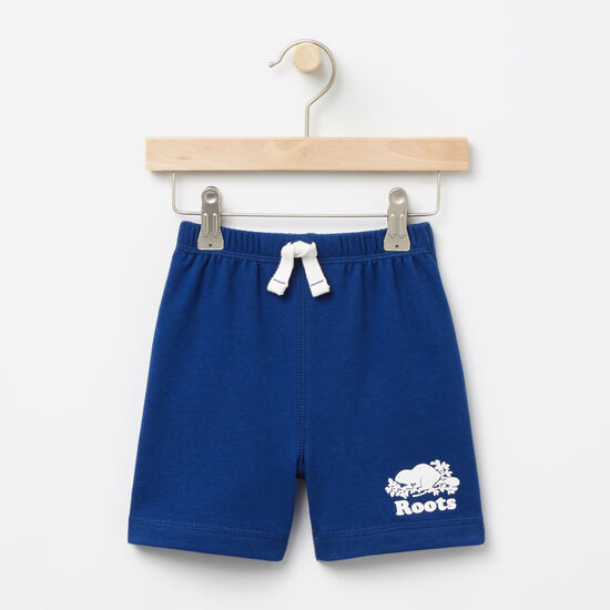 Roots-Kids Bottoms-Baby Original Athletic Shorts-Anchor Lake Blue-A