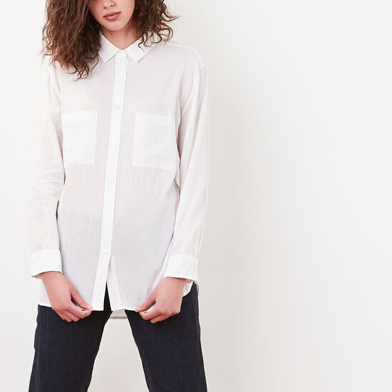 Roots-Women New Arrivals-Brookside Shirt-White-A
