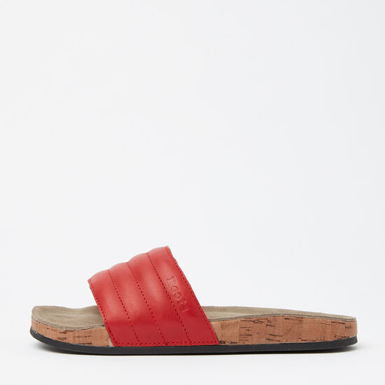Roots-Shoes Women's Shoes-Womens Roots Slide Leather-Red-A