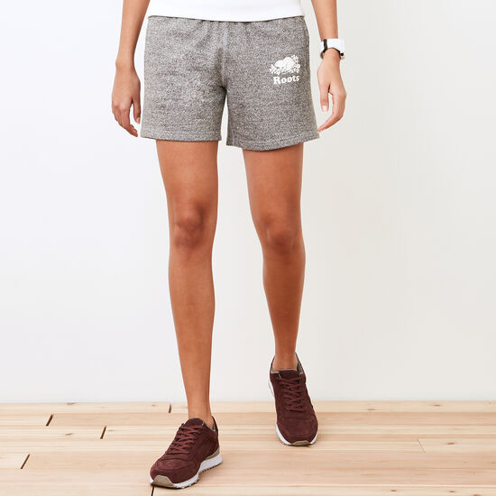 Roots-Women Shorts & Skirts-Longer Original Sweatshort-Salt & Pepper-A