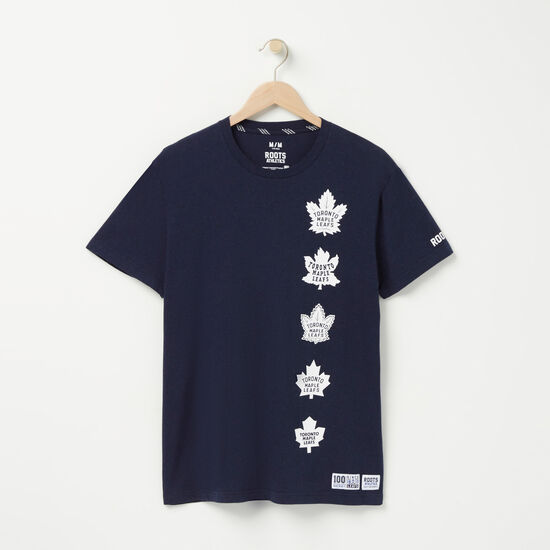 Roots-Men Toronto Maple Leafs-Mens TML Centennial Short Sleeve T-Shirt-Navy Blazer Mix-A
