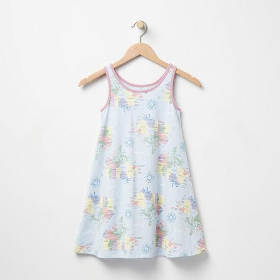 Roots-Kids Girls-Girls Coastal Tank Dress-Clean Air-A