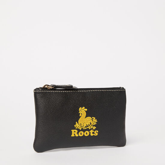 Roots-Leather Leather Accessories-Rooster Pouch Prince-Black-A