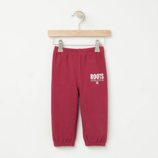 Roots-Kids Baby Girl-Baby Roots Re-issue Sweatpant-Beaujolais-A