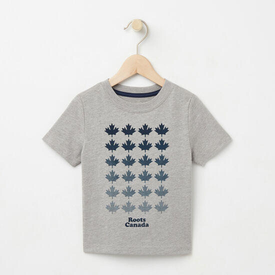 Roots-Kids T-shirts-Toddler Multi Maple T-shirt-Grey Mix-A