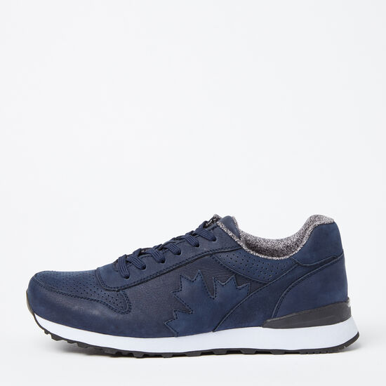 Roots-Shoes Men's Shoes-Mens Trans Canada Jogger Nubuck-Navy-A