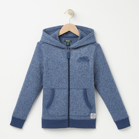 Roots-Kids Boys-Boys Bellwood Full Zip Hoody-Cascade Blue Mix-A