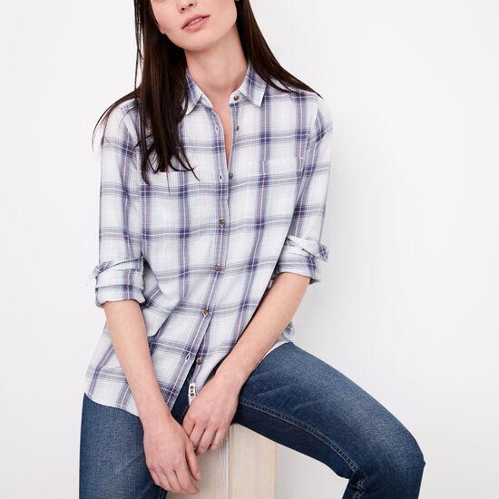 Roots-Women Shirts-Leanna Shirt-Celestial Blue-A