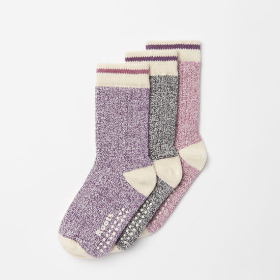Roots-Kids New Arrivals-Toddler Cabin Sock 3 Pack-Grape Nectar-A