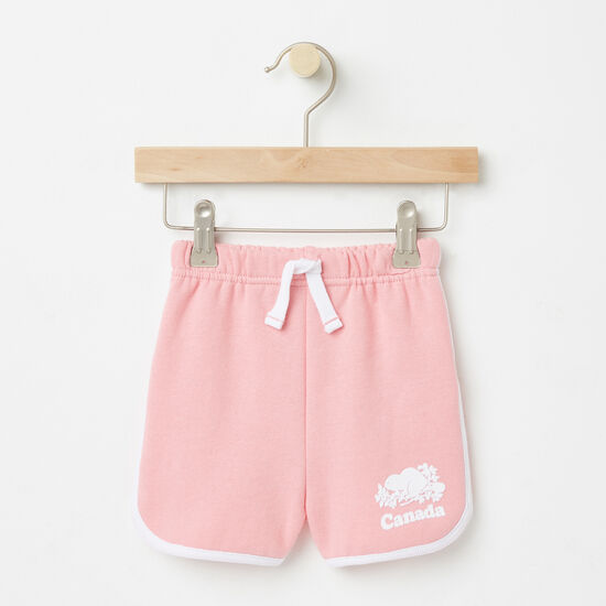 Roots-Kids Toddler Girls-Toddler Cooper Canada Shorts-Peony Pink-A