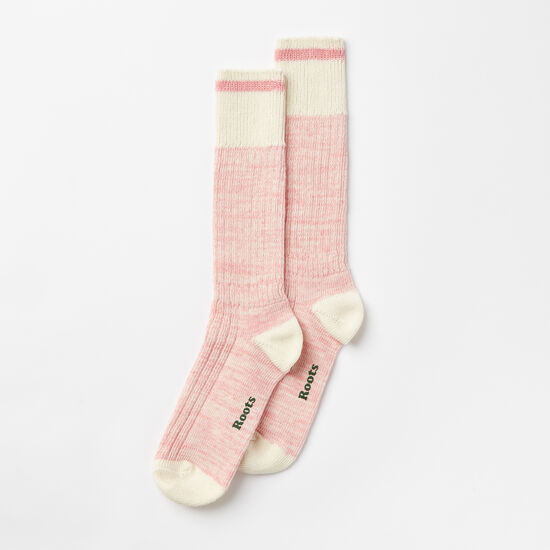 Roots-Women Socks-Womens Park Sock 2 Pack-Dusty Rose Mix-A