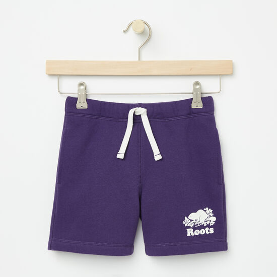 Roots-Kids Bottoms-Girls Original Athletic Shorts-Mulberry Purple-A