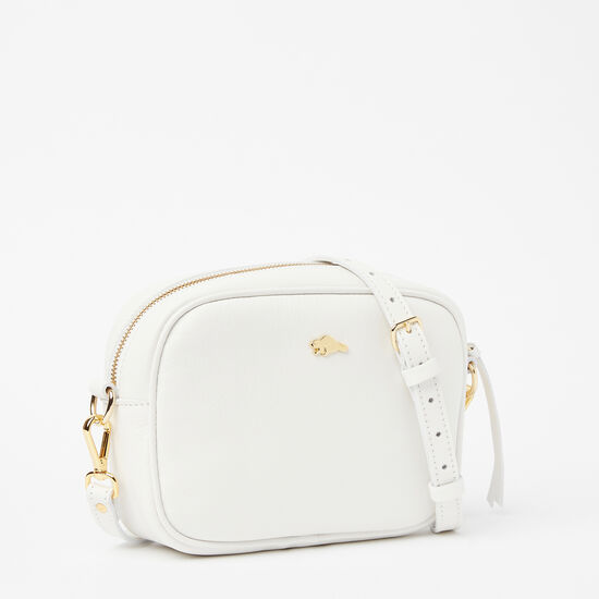 Roots-Leather Mini Leather Handbags-Lorna Bag Bridle-White-A