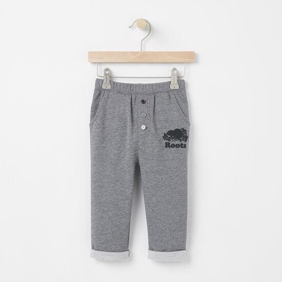 Roots-Sale Kids-Baby Damian Cozy Fleece Pant-Medium Grey Mix-A