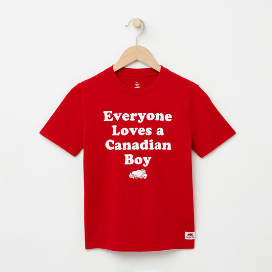 Roots-Enfants T-shirts-Garçons T-shirt Canadian Boy-Rouge Sauge-A