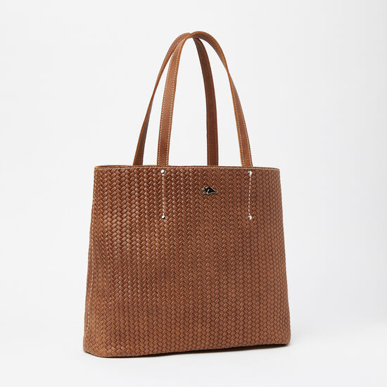 Roots-Leather Totes-Downtown Tote Woven-Africa-A