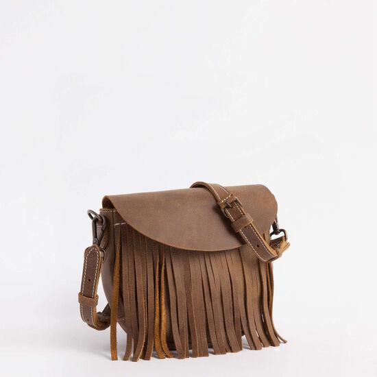 Roots-Women Mini Leather Handbags-Mini Sedona Saddle Tribe-Africa-A