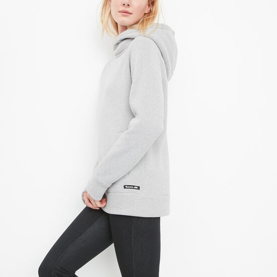 Roots-Women Sweatshirts & Hoodies-Roots Cabin Sweaterknit Tunic-Sterling Grey-A