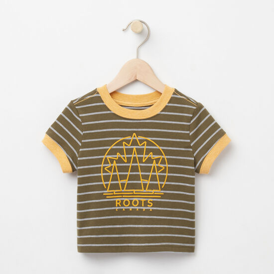 Roots-Kids T-shirts-Baby Moncton Ringer Top-Ivy Green-A