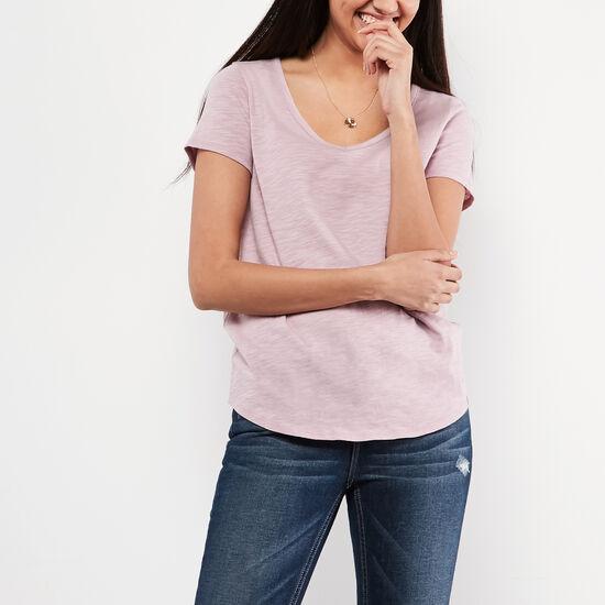 Roots-Women Tops-Victoria T-shirt-Mauve Shadows-A