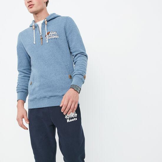 Roots-Men Sweatshirts & Hoodies-Heritage Outdoors Pullover-Blue Denim Pepper-A