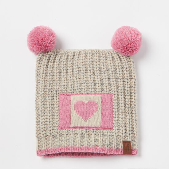 Roots-Kids Baby Girl-Baby Love Canada Toque-White Grey Mix-A