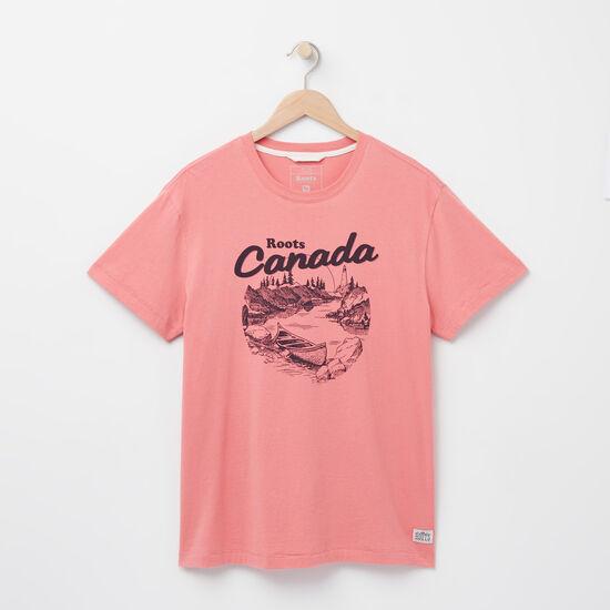 Roots-Men Tops-Morell Organic T-shirt-Sunset Apricot-A