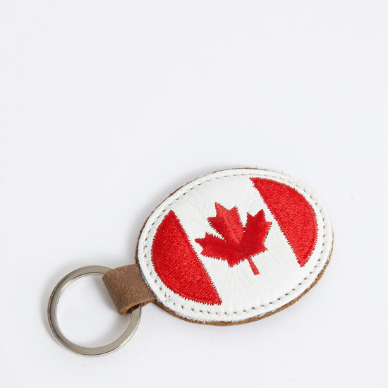 Roots-Women Small Leather Goods-Canada Oval Key Chain Tribe-Africa-A