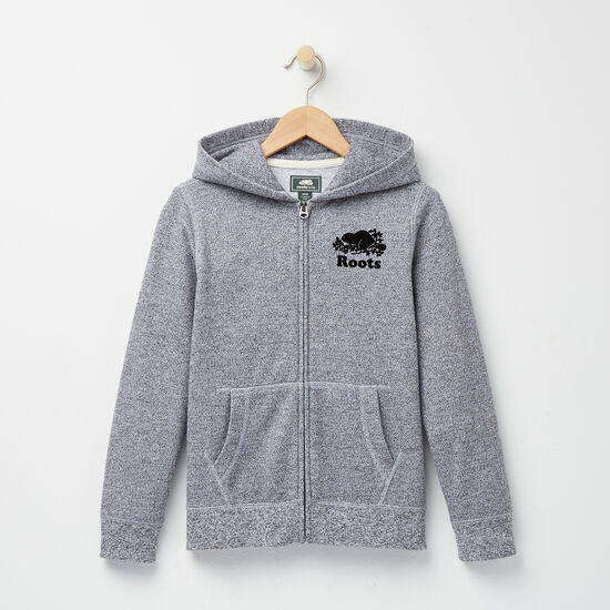 Roots - Boys Roots Salt and Pepper Original Full Zip Hoody