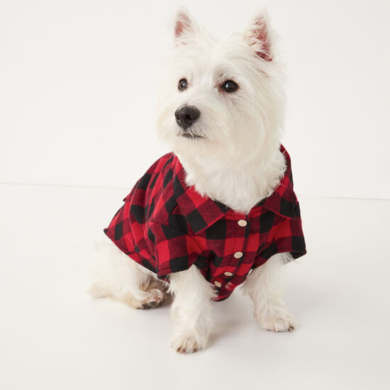 Roots-Women Roots Home-Roots X Canada Pooch Flannel Shirt - Size 16-Lodge Red-A