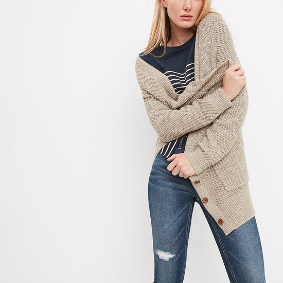 Roots-Women Sweaters & Cardigans-Ridgeview Cardigan-Oatmeal Mix-A