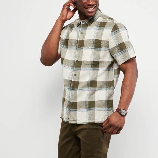 Roots-Men Tops-Foxley Short Sleeve Shirt-Ivy Green-A